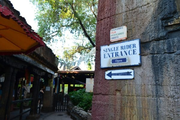 Singler Rider line at Expedition Everest in Animal Kingdom
