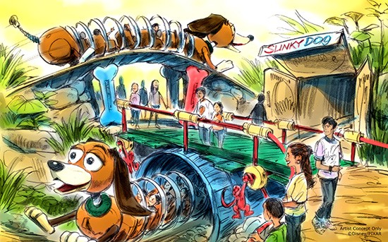 slinky dog dash concept art