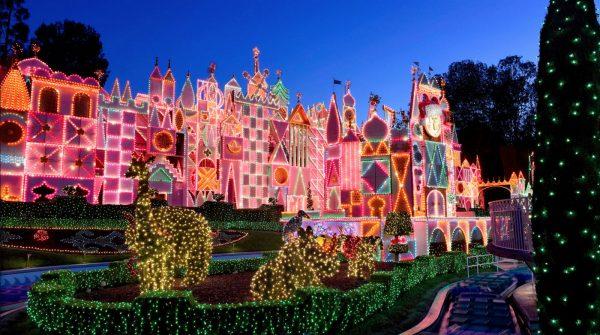 it's a small world holidays at Disneyland