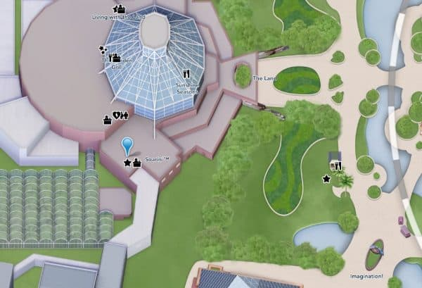 soarin location on epcot map