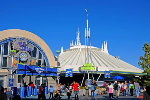 outside of space mountain in tomorrowland