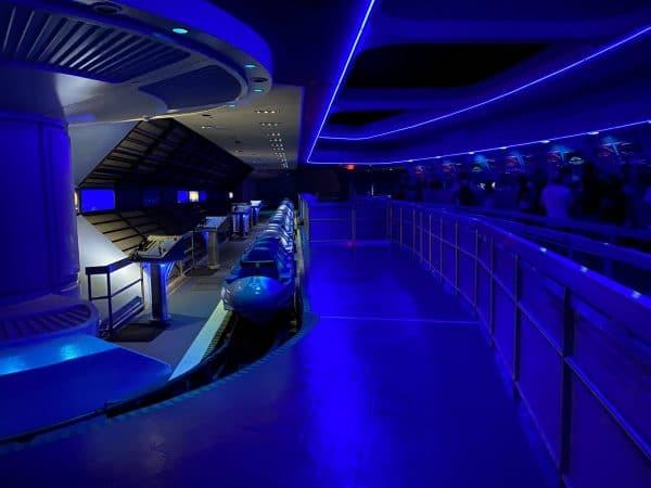 interior of space mountain at magic kingdom