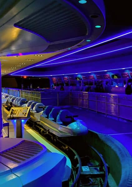 space mountain ride vehicles