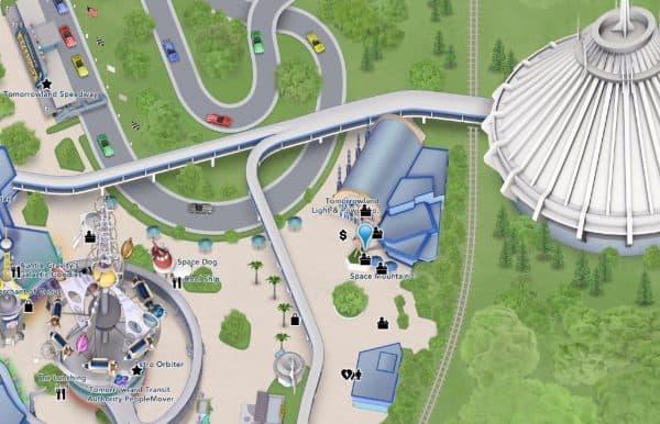 space mountain location on magic kingdom map