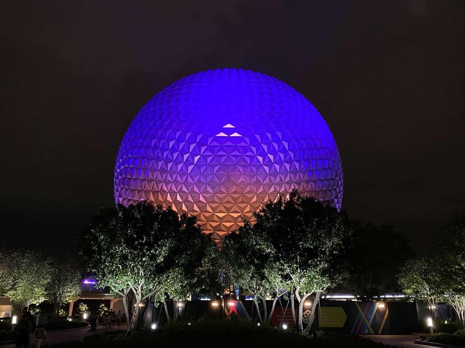Spaceship Earth at night