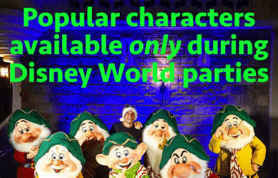 specialcharacters 390x250 - The Character Queen's favorite characters at Disney World during special events