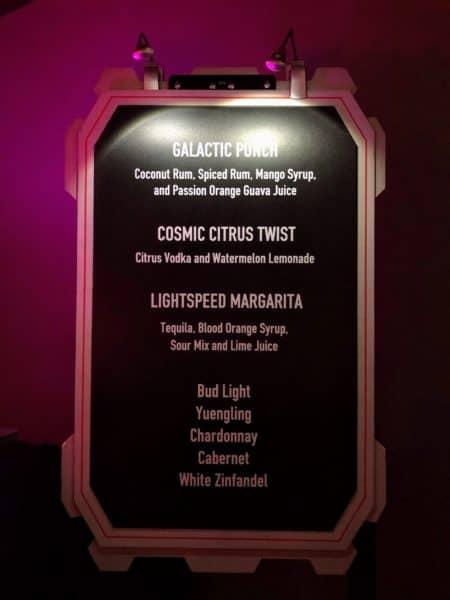 Star Wars Dessert Party drink list