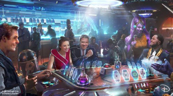 Silver C Lounge on Galactic Starcruiser