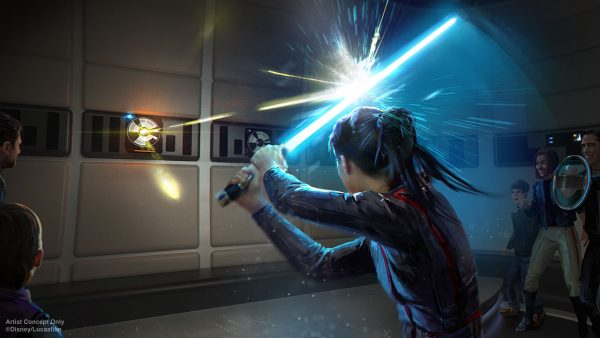 Wield a lightsaber on the Galactic Starcruiser