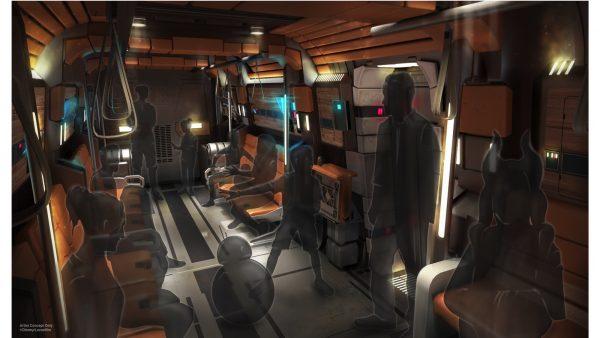 Star Wars: Galactic Starcruiser transport ships