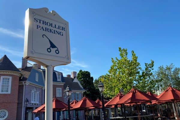 Columbia Harbor House Stroller Parking sign