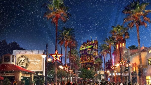 sunsetseasongreetings 1 600x338 - The holidays at Disney World - Candlelight Processional Dining Packages on sale July 11