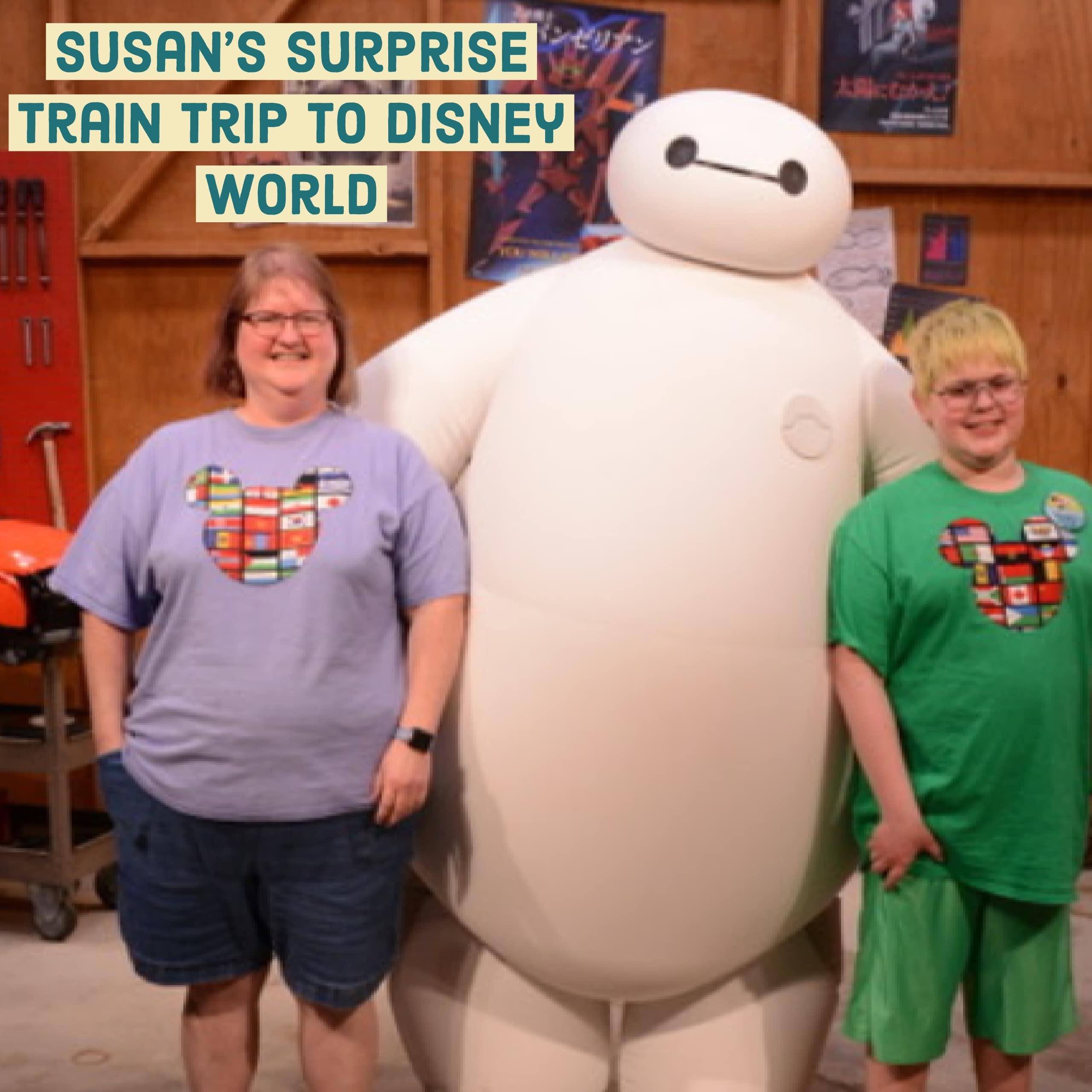 Susan's surprise train trip to Disney World FB