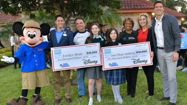 The Aguirre family, the first ever Disney and Points of Light Volunteer Family of the Year