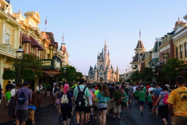 Walking up Main Street in Magic Kingdom | What is the best age for Disney World?