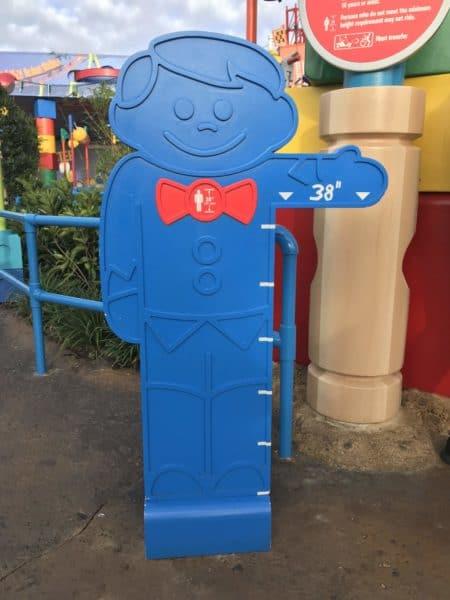 Height indicator for Slinky Dog Dash