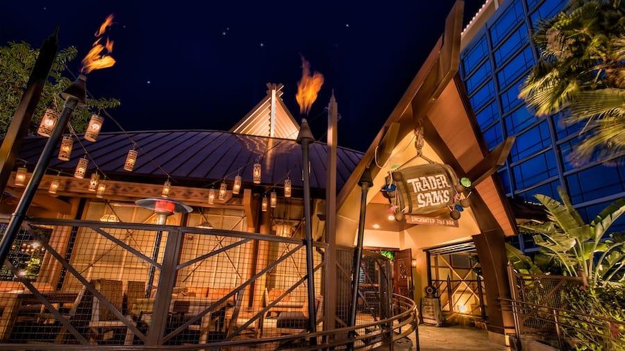 trader sam's at disneyland hotel reopening