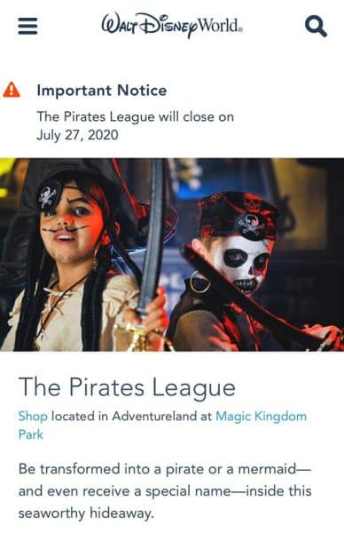 The Pirates League is closing