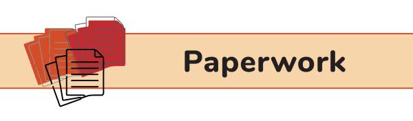 Paperwork Packing List for Disney