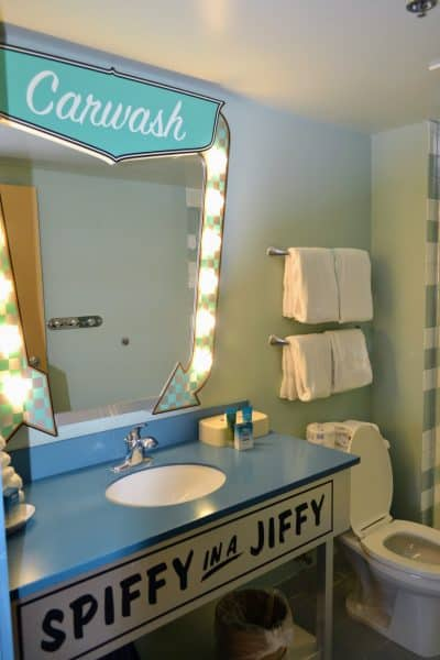 Cars suite bathroom