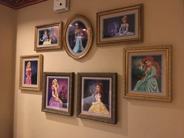 Princess artwork in Royal Room at Port Orleans Riverside