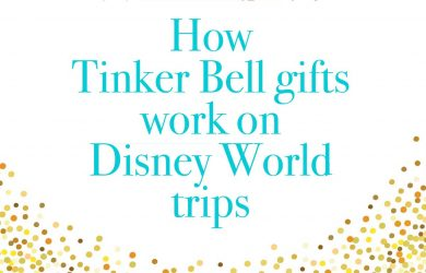 tinkerbellgifts 390x250 - How to do Tinker Bell gifts at Disney World