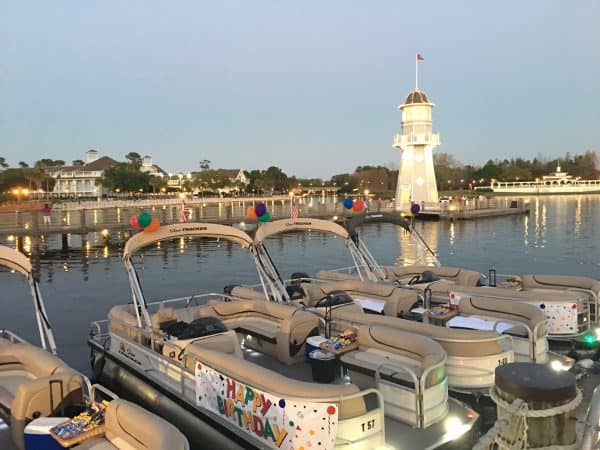 private cruise boat at dock Yacht Club at Disney World