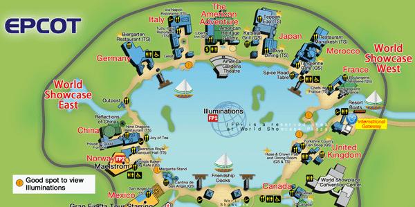 epcot map walt disney world