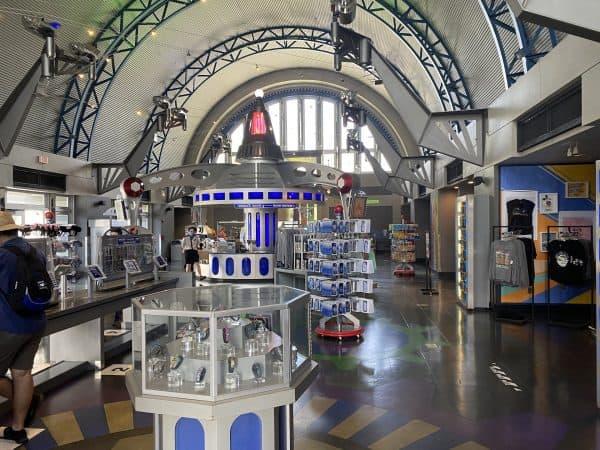 Tomorrowland Light & Power Co. gift store in Magic Kingdom