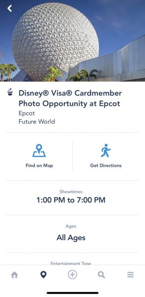 Disney Visa Card Experience at Epcot