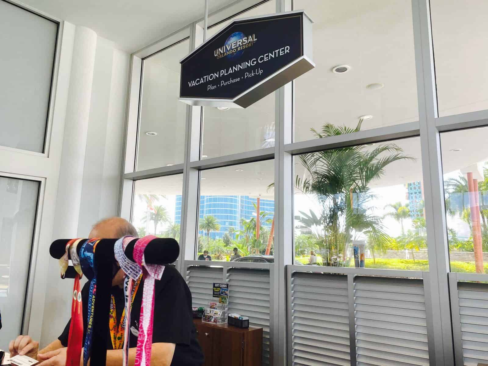 universal tickets and lanyards