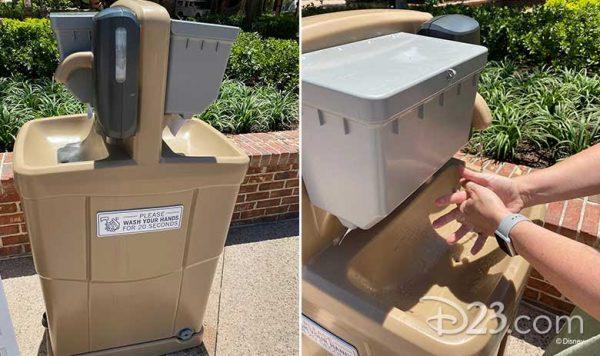 Handwashing stations for Disney Springs reopening