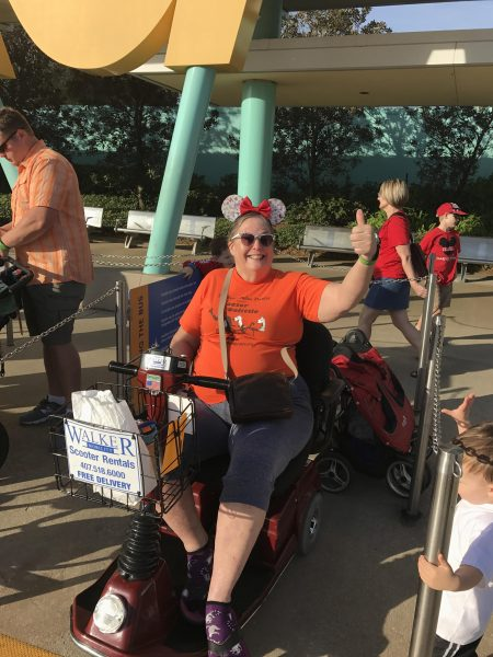 Using an ECV or scooter at Disney World