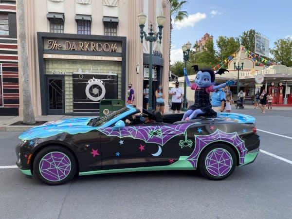 Vampirina in Disney Junior motorcade at Hollywood Studios