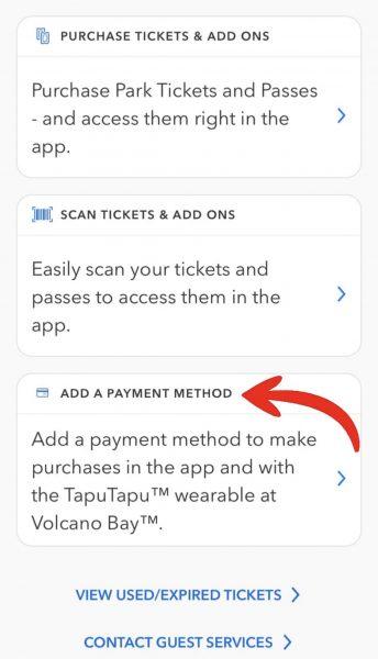 universal orlando app payment