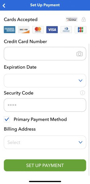 universal orlando app credit card