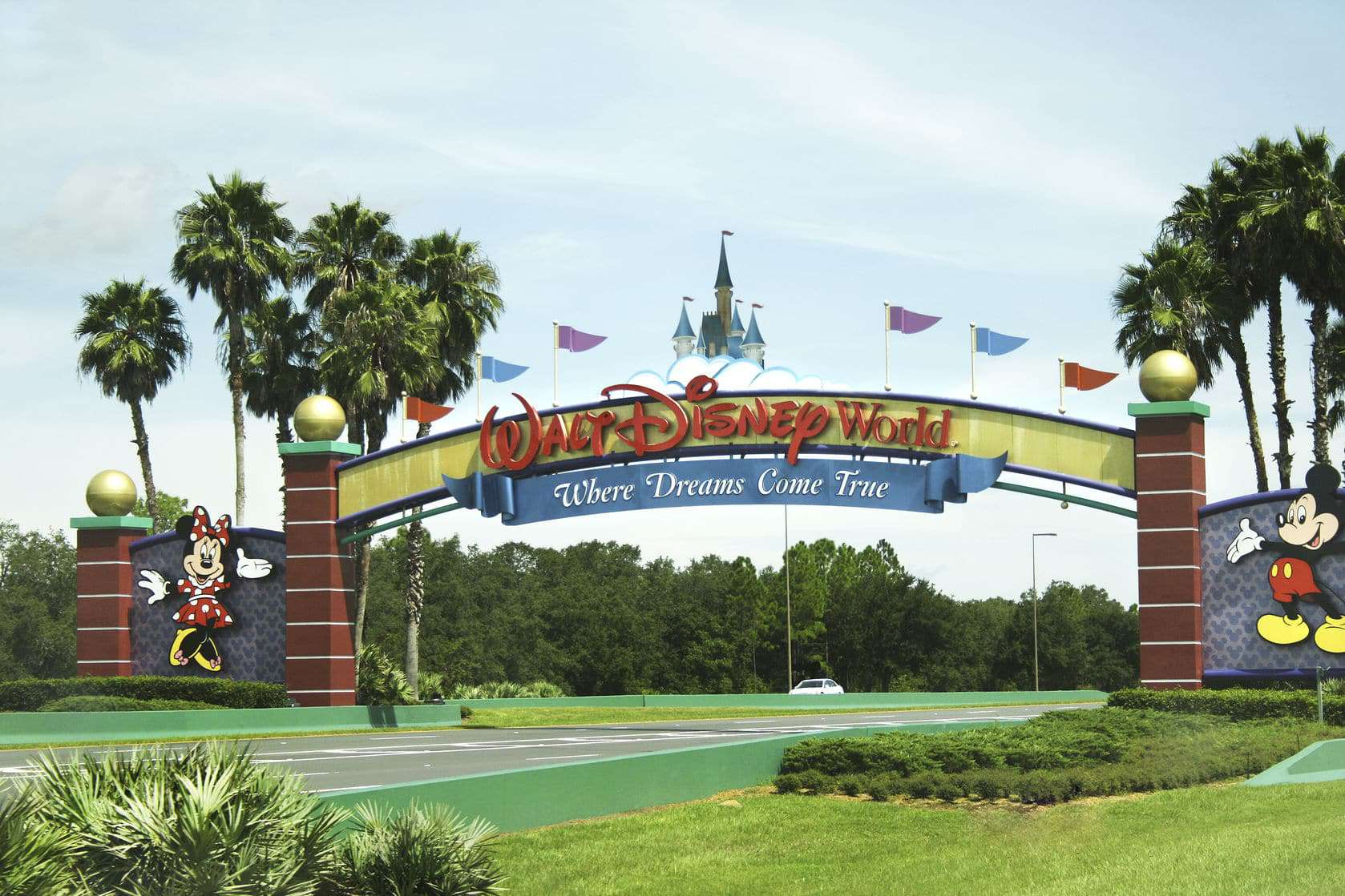 Welcome sign for Disney World