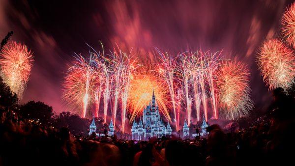 Fantasy in the Sky fireworks at Magic Kingdom