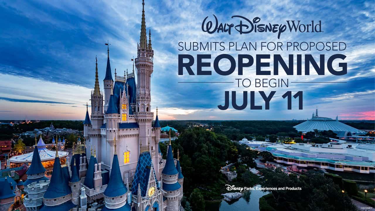 Walt Disney World reopening starting July 11