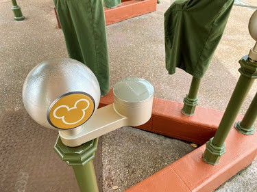 touch point at disney world park entrance