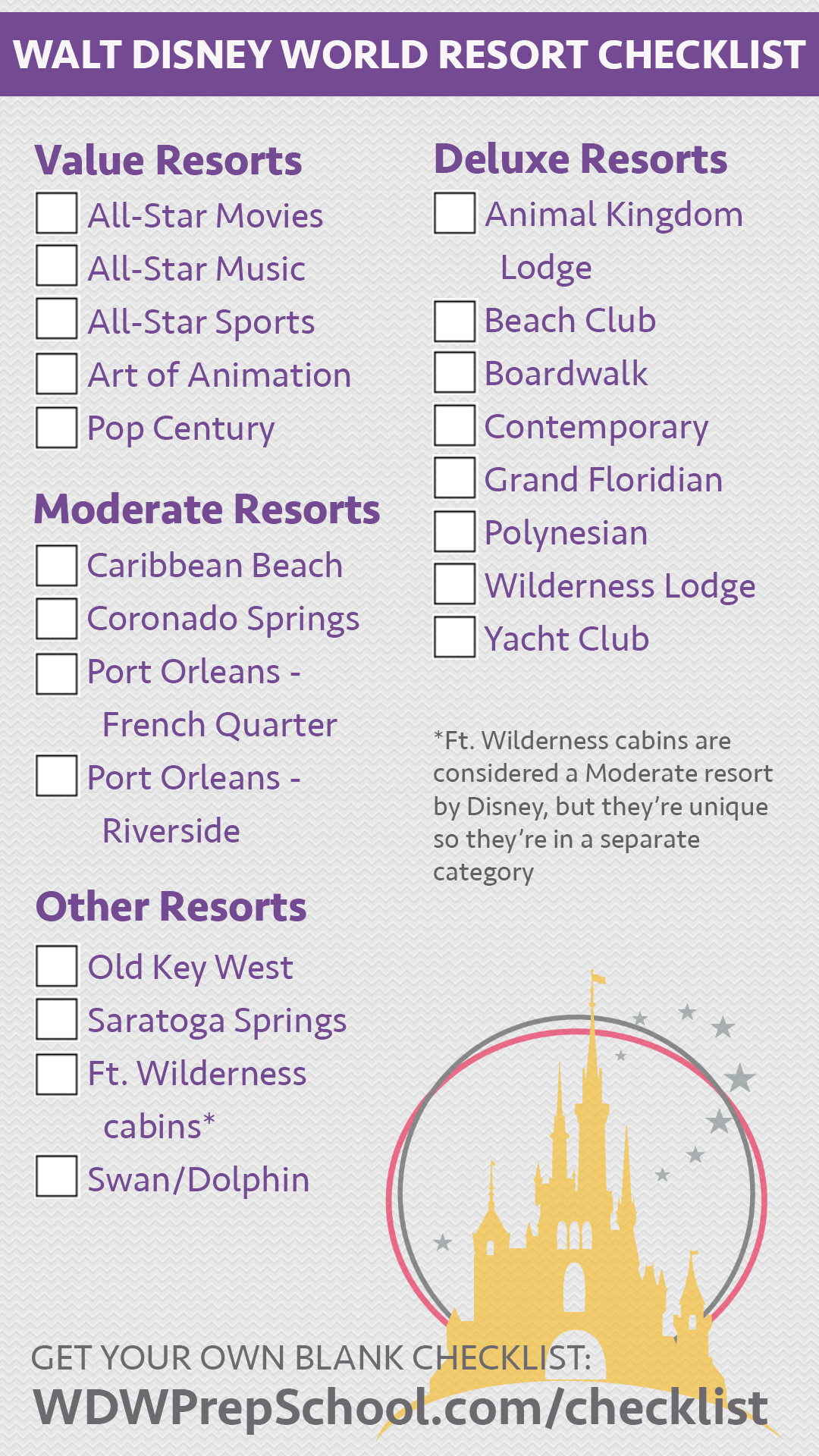 disney world hotels list