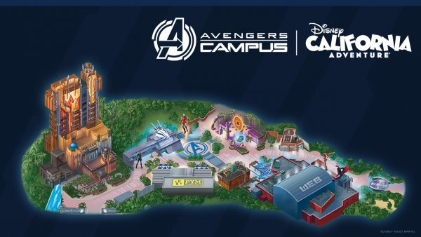 avengers campus map