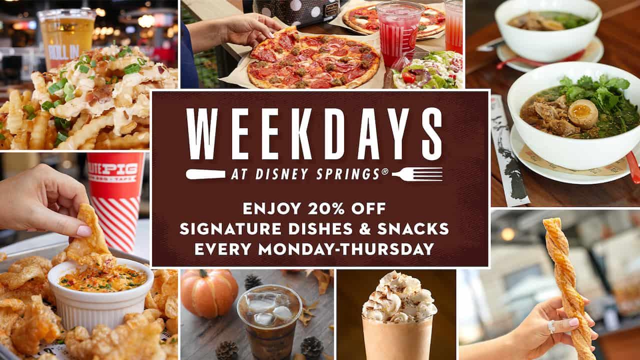 Weekdays at Disney Springs deal
