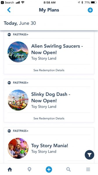 Toy story land attractions fastpass