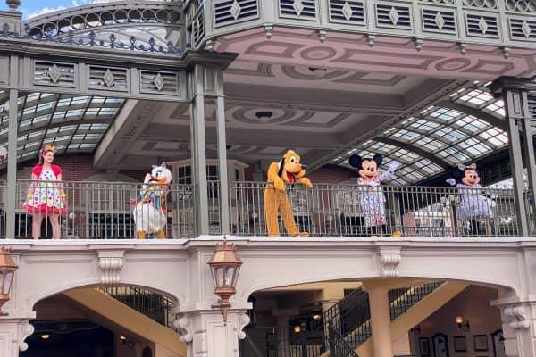 Main Street Train Station characters