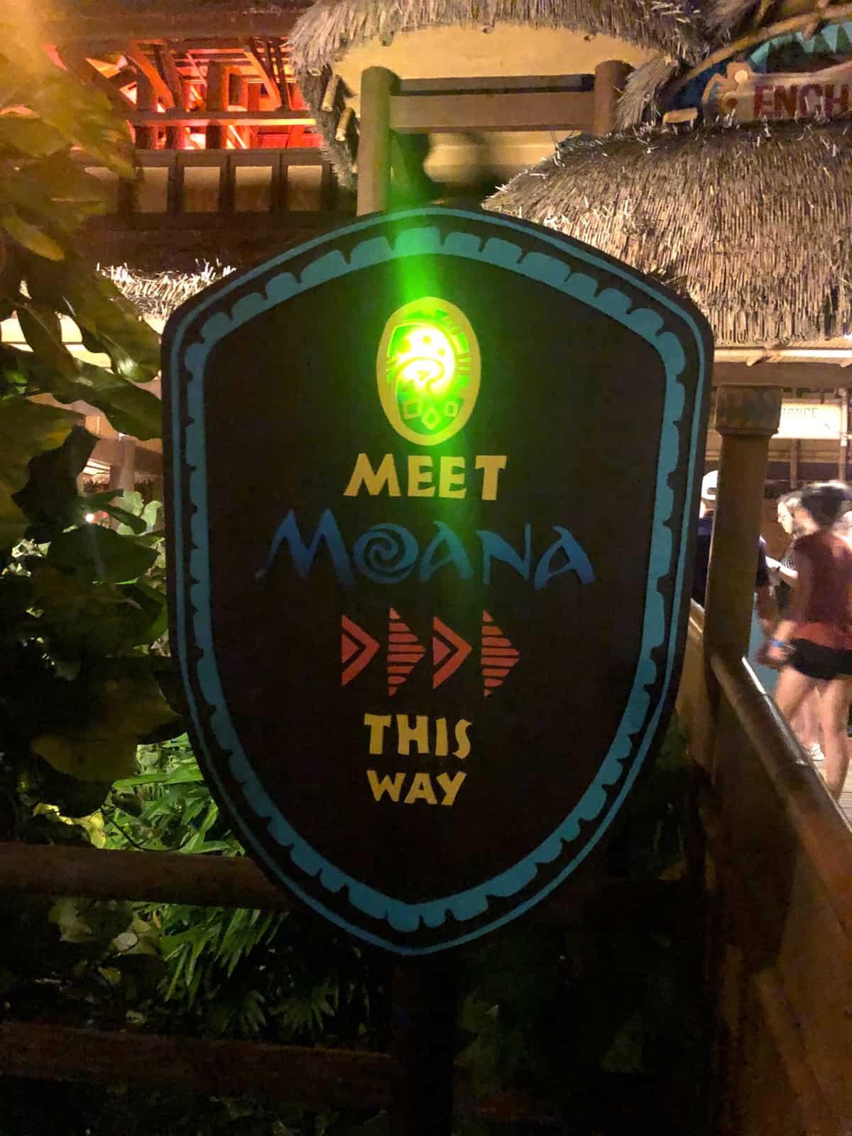 Moana sign