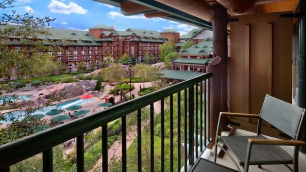 nature view from wilderness lodge room