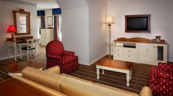 Two bedroom suite club level room at Yacht Club