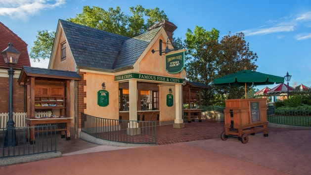 Epcot Dining - Yorkshire County Fish Shop (dinner)