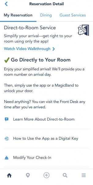 Modifying check-in on My Disney Experience